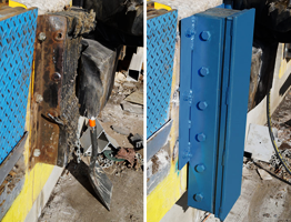 Steel face bumpers provide maximum protection