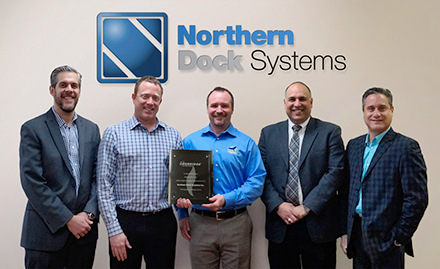 Northern Dock Systems' President Kirby Moore and VP Chris Brady with members of Enbridge Gas Distribution
