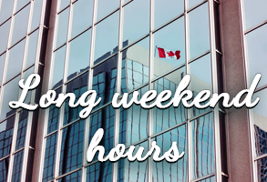 Labour Day Weekend Hours