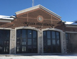 Orillia Fire Station Four-Fold Doors