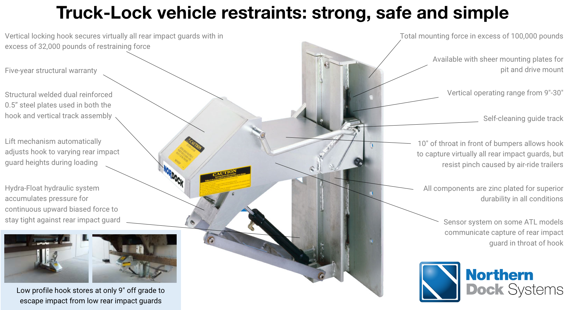 Truck-Lock vehicle restraints