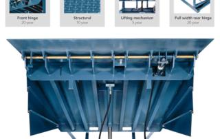 Barrier hydraulic dock leveler