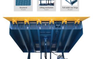 Sliding Barrier-Lip hydraulic dock leveler