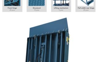 Vertical Storing cold storage dock leveler