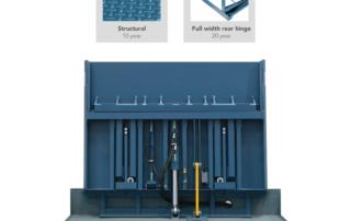 Vertical Telescoping-Lip dock leveler for cold storage