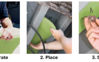 Leveler Koozi installs easily on the underside of the loading dock leveler