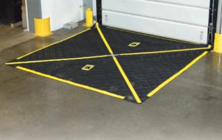 8'x8' insulated Leveler Blanket effectively covering a dock leveler