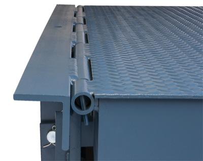 Rear hinge assembly for dock leveler