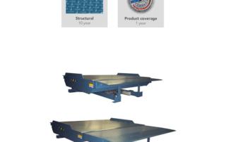 Sliding Lip Rail dock leveler for train cargo