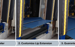 The Telescoping-Lip makes it easy to position the dock for end loading