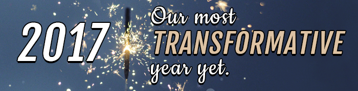 2017 - our most transformative year yet.