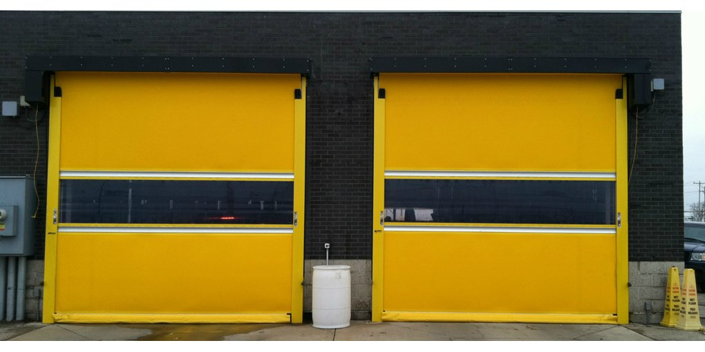 Exterior Fabric Roll Up Door Used For Demanding Operations