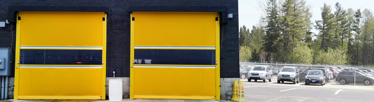 UltraFast RapidRoll high-speed exterior fabric roll-up door