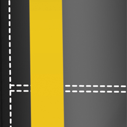 Standard full-height guide stripes