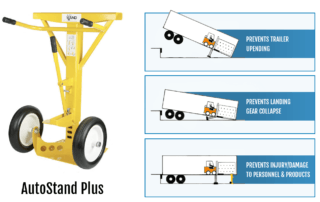 AutoStand Plus prevents injury, trailer up-ending and landing gear collapse
