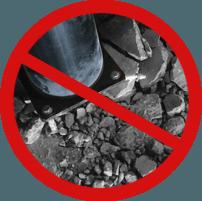 No concrete damage