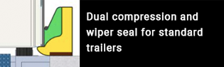 Dual compression and wiper seal for standard trailers.