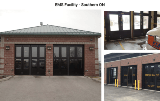 Four-Fold doors at a Southern Ontario EMS Facility