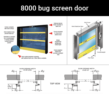 Model: 8000 bug screen door