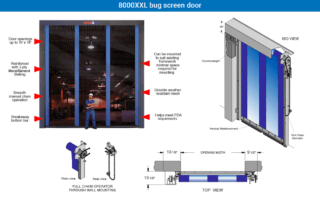 Model: 8000XXL bug screen door