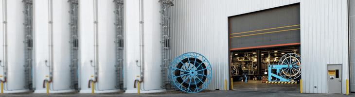 Heavy industry door