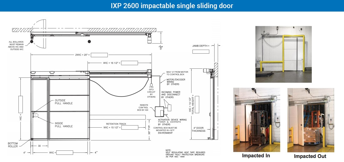 Model: IXP 2600 impactable single sliding door