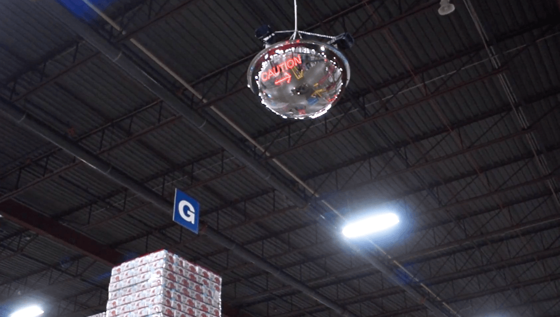 Led Mirror Alert Dome Detects Amp Notifies Nearby Personnel
