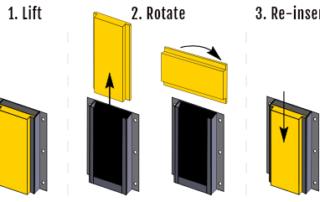 Steps to flip a Nytrex Slider dock bumper