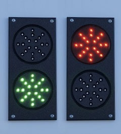 Red and green communication lights