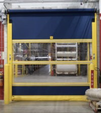 Fabric roll-up door