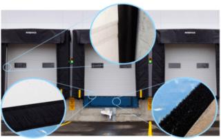 Weather seals around dock doors