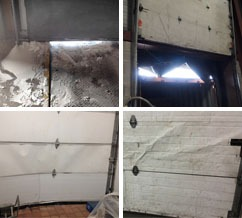 White light infiltration and damaged dock doors