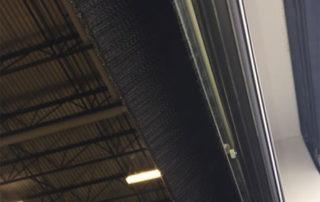 Dock door bottom brush weather seal