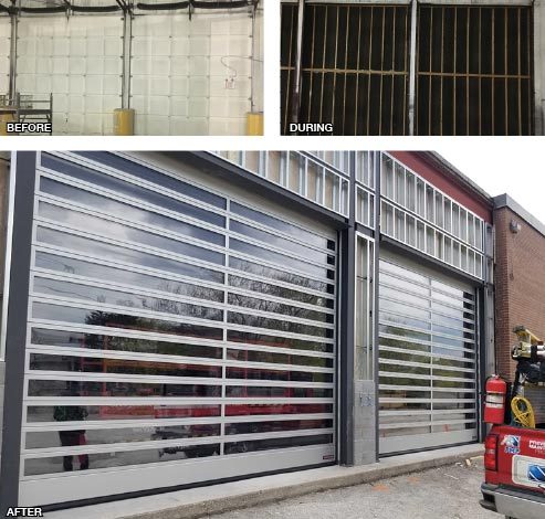 All Canadian Self Storage Before and After Polycarbonate Vision Doors