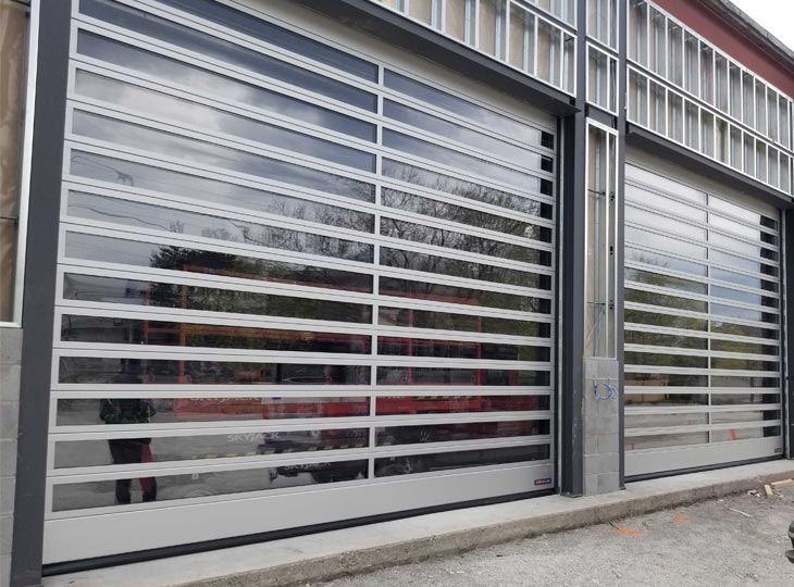 Exterior of Polycarbonate Overhead Door at All Canadian Self Storage