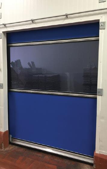 Egg Solutions High-Speed Fabric Roll-Up Freezer Door Front