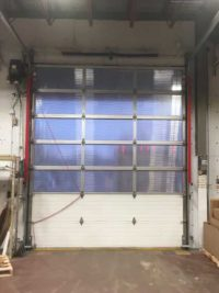 Before Inside Overhead Dock Door Closed at Finning