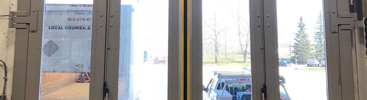 Four-Fold Door at Finning Header