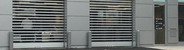 209V commercial exterior door