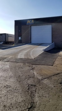 KMJ Overhead Door with Ramp in Brampton Ontario from right