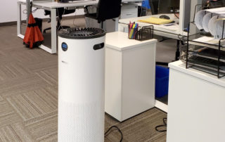 JADE in an office workspace, small and compact air purifier