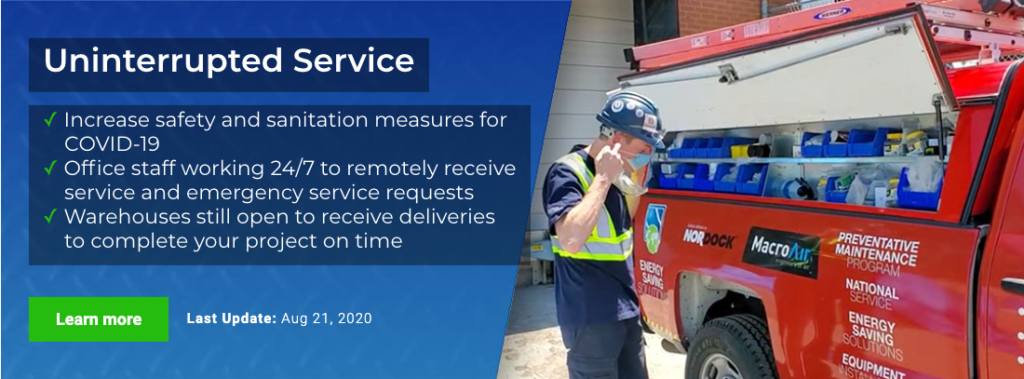 Uninterrupted Service during COVID-19, 24/7 service and increased safety and sanitation measuers
