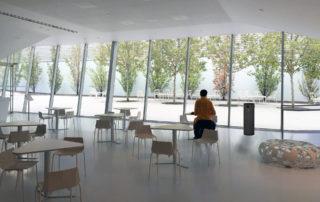 Lunchroom with black JADE UV Air Purifier