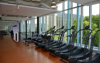 Gym with Cascade UV air purifier