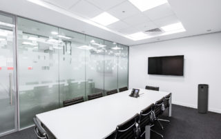 Meeting or board room with black JADE UV air purifier