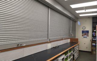Long lasting rolling steel shutters closed
