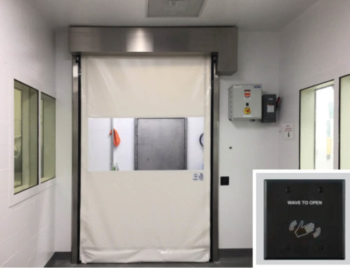 Patheon Thermo Fisher – Touchless High Speed Fabric Doors