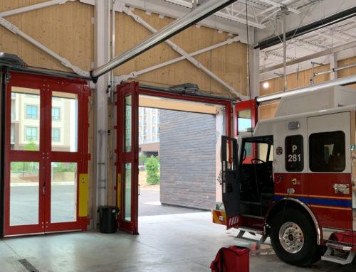 Oakville Fire Station 8 – Four-Fold Door and Safe-Drive Springlesss Overhead Door System