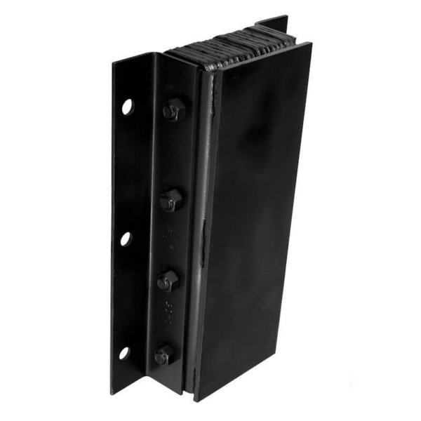 Steel face dock bumper black