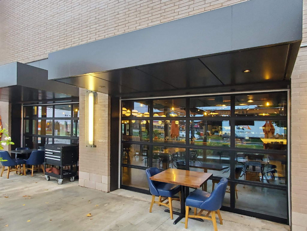Beertown Public House – Commercial Overhead Patio Doors